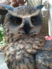 Eagle Owl Life Size Eagle Owl Garden Sculpture Vivid Real Colours UV Resistant