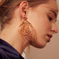 Multi Layers Large Circle Ear Stud Drop Dangle Hook Vintage Earrings Geometric