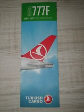 Safety Cards Turkish Airlines Cargo B 777F