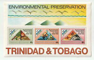 Trinidad & Tobago 1981 Environmental Preservation Souvenir Sheet MNH