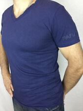 Famous Parasuco Brand Navy blue short sleeves, v- neck slim fit men's top