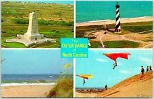 OUTER BANKS, NORTH CAROLINA Multi-View Postcard Lighthouse Hang Gliding 1983