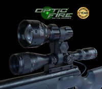 Opticfire® TX-67 T67 mini LED hunting light torch scope mount lamp lamping kit