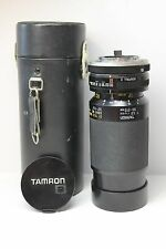SLR Camera Tele Macro Lens w/Case Tamron 80-210mm 1:3.8 ADAPTALL2 Konica, others