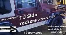 JEEP TJ DIAMOND PLATE SIDE ROCKER PANEL with 1 inch bend SET OF 2. 5 3/4 WIDE