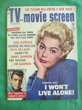 TV & Movie Screen magazine - April 1960, Sandra Dee cover