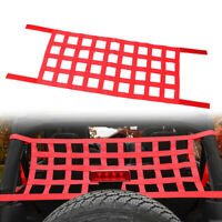 Red Mesh Cargo Net Car Roof Net Hammock For Jeep Wrangler YJ TJ JK JL 87-19