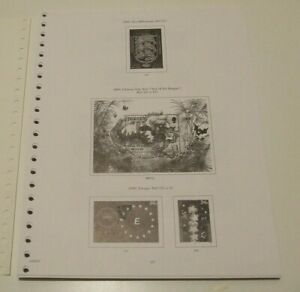 STANLEY GIBBONS JERSEY 2000-04 ILLUSTRATED 22-RING STAMP ALBUM PAGES, VGC