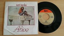 "ALICE - UN'ISOLA - 45 GIRI 7"" - ITALY PRESS"