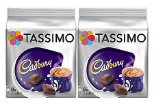 2 Packs Tassimo Cadbury Hot Chocolate T Discs Pods - 16 Large T Discs 16 Drinks