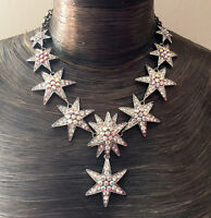 Butler and Wilson Clear AB Dazzling Star Drop  Necklace NEW