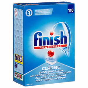 Finish Powerball Classic Dishwasher Tablets 110 Everyday Clean Pre Soak Action 3