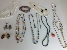 Grab Bag Sarah Cov Cookie Lee Lot Of Costume Jewelry Wearable Crafts Mixed