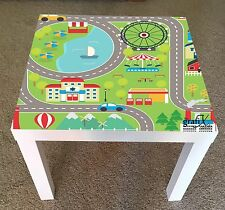 Car Track Vinyl Sticker Suitable For ikea lack Table / Coffee table lk10