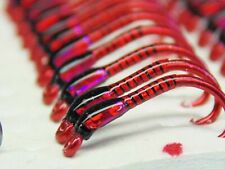 6x  Black and red hollo buzzers  red ice cheeks size 12 trout fishing flies