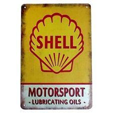 Metal Tin Sign shell motorsport Decor Bar Pub Home Vintage Retro Poster Cafe