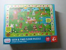 CHUCKLE & ROAR  Floor Puzzle 50 Pieces, 4+, 3 Feet x 2 Feet Seek & Find