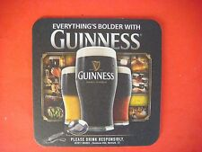 Beer Coaster ~ Everything's Bolder With A Guinness Stout; St John's Gate Ireland