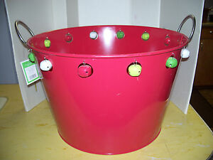 Be Merry Beverage Tub - Red