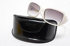 FENDI White Sunglasses w/Ombre Brown Lens & Colorful Sketches-FUN! w/Case & Box
