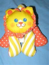Fisher Price 1336 Zoo Grabbers Lion Plush Rattle HTF Yellow Orange Baby Toy 1990