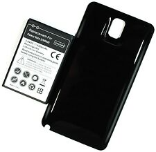 New Extended Battery for Samsung Galaxy Note 3 N9000 + Back BLACK Cover Door
