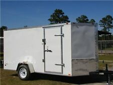 New 6x12 6 X 12 V Nose Enclosed Cargo Trailer With Ramp