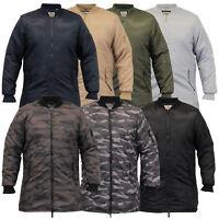 Mens MA1 Jacket Soul Star Harrington Mac Trench Coat Padded Army Military Winter