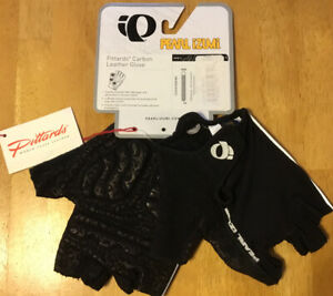 NWT Pearl Izumi Pittards® fingerless Black Leather Bicycling Gloves Size XL Mens