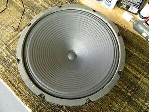 """1966 Jensen 12"""" Speaker, C-12-R, Clean Cone and Dust Cover.  16 ohms, 25 watts."""