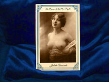 Vintage French Postcard Cabinet Card Risque Pigalle 1885 Nude Photograph JL RP