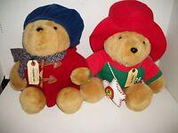 2 Vintage Plush Paddington Bear 14 inch Teddy Bears, Eden & Sears