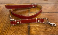 "Coach Red Leather Dog Leash 54""x1"""