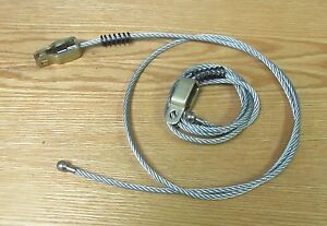 1955 1956 1957 CHEVY NOMAD TAILGATE CABLES , PAIR NEW ** USA MADE **