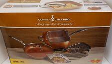 COPPER CHEF PRO 7-PIECE HEAVY DUTY COOKWARE SET~NEW & UNUSED