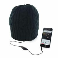 Unisex Mens Womens Knitted Thermal Winter Beanie Hat Built In Music Headphones