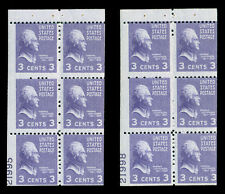 3¢ Purple Booklet Panes