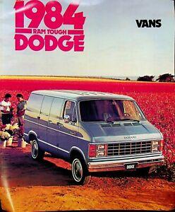Vtg Original 1984 Dodge Van Truck Brochure Prospector Ram Van Maxivan