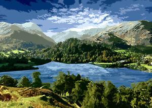 Ullswater Lake District  Limited Art Print By Sarah Jane Holt Large Version