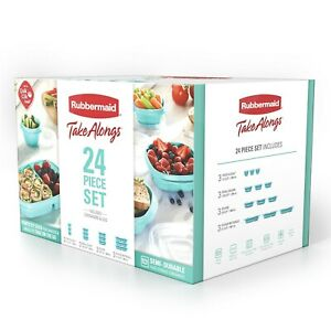Rubbermaid Take Alongs Food Storage Containers 24 piece Teal