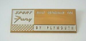 1959 Plymouth Sport Fury Dash Plaque