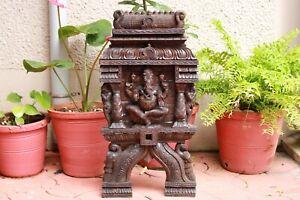 Ganesha Statue Gopuram Wall Panel Hindu Temple Ganesh Sculpture Vintage Figurine
