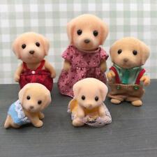 Sylvanian Families Amarillo Labrador Perro familia mamá Niños Bebé Gemelos Juguete Figura Set