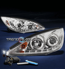 2002-2004 TOYOTA CAMRY LED CHROME PROJECTOR HEAD LIGHTS W/BLUE DRL SIGNAL+HID 6K