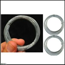 3x Galvanised Garden Wire 12M LONG ROLL Plant Support Vine Tying Cord 36m TOTAL