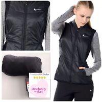 Nike Women's Dri-Fit Polyfill Sleeveless Running Packable Gilet Vest Black