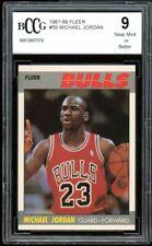 1987-88 Fleer #59 Michael Jordan Card BGS BCCG 9 Near Mint