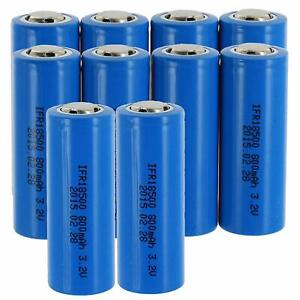 Exell Replacement for BT-LP-18500-8501, LiFePO418500, 18500 Battery (Pack of 10)