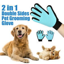 2 in 1 Double Sides Pet Cat Dog Grooming Glove Massage Brush Tool for Right Hand