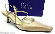 STUART WEITZMAN Gold 'Ambience' Evening Heels Size 6 Pumps Shoes
